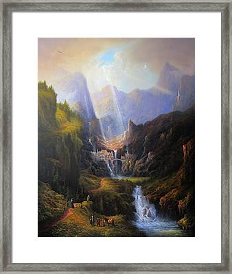 Rivendell. The Last Homely House.  Framed Print by Joe Gilronan