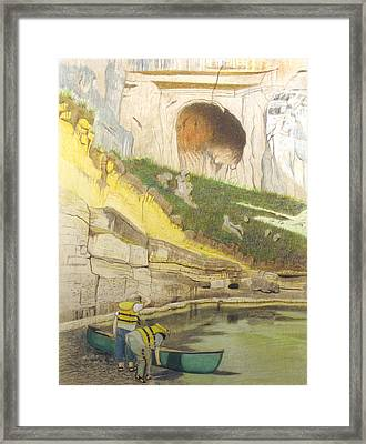 River Adventure Framed Print by Myrna Salaun