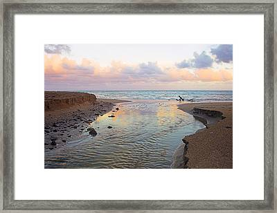Framed Print featuring the photograph River And Sunrise- St Lucia by Chester Williams