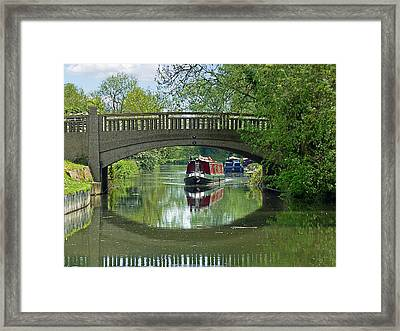 River At Harlow Mill Framed Print