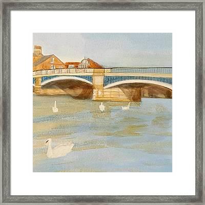 River At Royal Windsor Framed Print