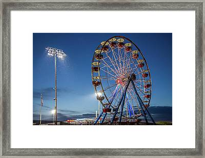 River Bandit's Ferris Wheel 2 Framed Print by Tom Weisbrook