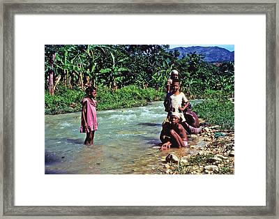 River Bathing Framed Print