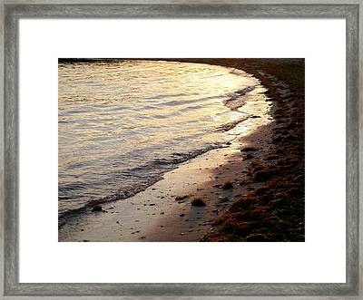 River Beach Framed Print