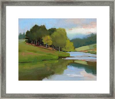 River Bend Study Framed Print by Todd Baxter