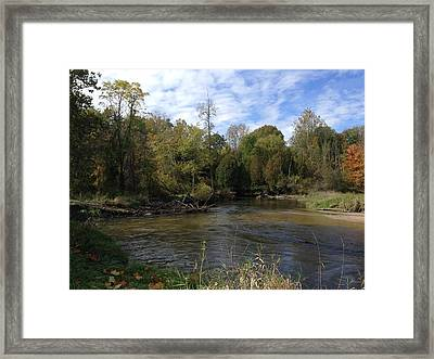 River Bends Framed Print