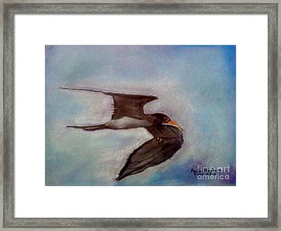 River Bird Framed Print