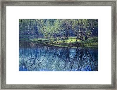 River Blues Framed Print by Debra and Dave Vanderlaan