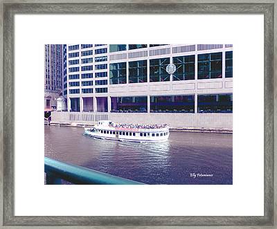 Framed Print featuring the photograph River Boat Tour by Elly Potamianos