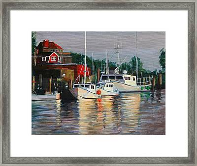 River Boats Framed Print