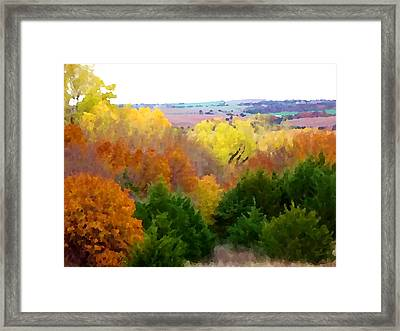 River Bottom In Autumn Framed Print