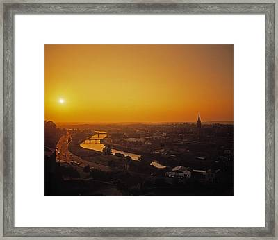 River Boyne, Drogheda, Co Louth, Ireland Framed Print by The Irish Image Collection