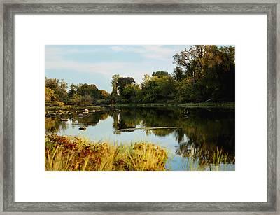 River Bypass Framed Print by Pamela Patch