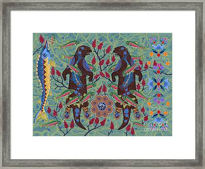 Framed Print featuring the painting River Spirit by Chholing Taha