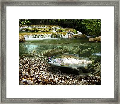 River Chrome Framed Print by Alex Suescun