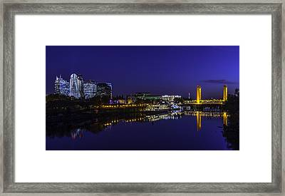 River City Blues Framed Print