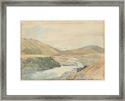 River Clarence 1864 New Zealand By James Crowe Richmond Framed Print