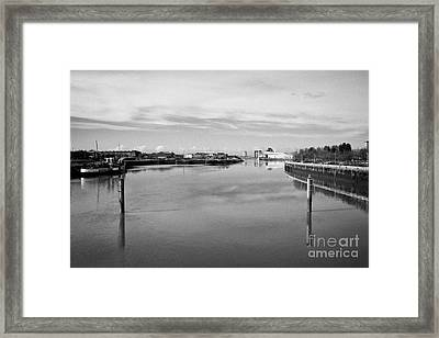 river clyde between govan and stobcross now redeveloped former shipyard Glasgow Scotland uk Framed Print by Joe Fox