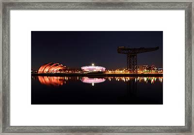 River Clyde Night Framed Print by Grant Glendinning