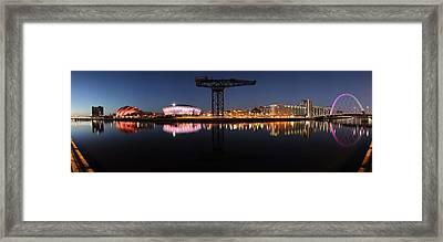 River Clyde Twilight Pano Framed Print by Grant Glendinning