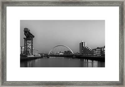 River Clyde View Framed Print by Grant Glendinning
