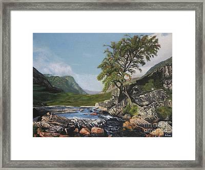 River Coe Scotland Oil On Canvas Framed Print