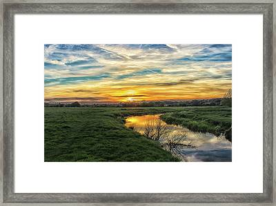 River Colne Essex Framed Print by Martin Newman