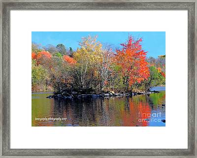 River Color Framed Print