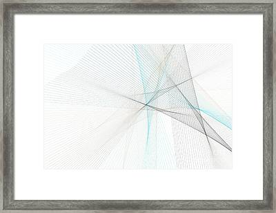 River Computer Graphic Line Pattern Framed Print by Frank Ramspott