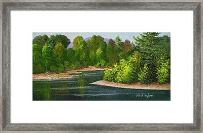 Framed Print featuring the painting River Confluence by Frank Wilson