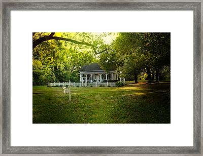 River Cottage In Summer Framed Print by Jai Johnson