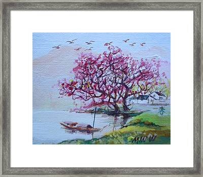 River Day Framed Print by Min Wang