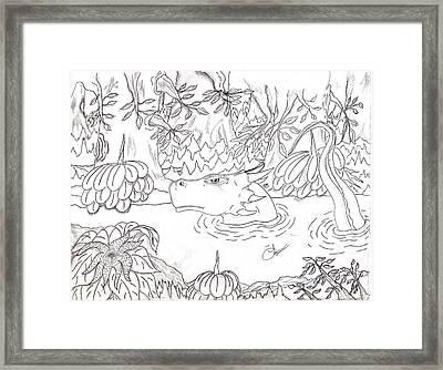 River Dragon Framed Print by Lynnette Jones