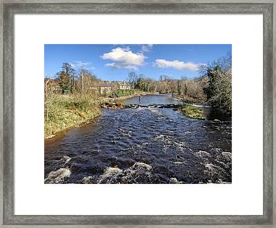 River Drowse At Kinlough, Leitrim - One Of The Best Trout And Salmon Fishing Rivers In Ireland Framed Print
