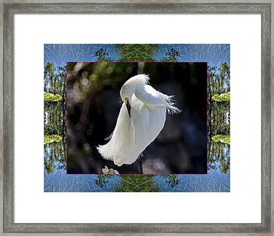 Framed Print featuring the photograph River Egret by Bell And Todd