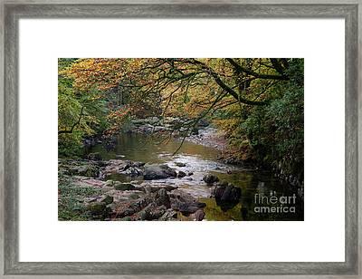River Esk In Autumn Framed Print by Gavin Dronfield