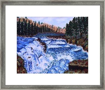 River Falls Framed Print by Tanna Lee M Wells