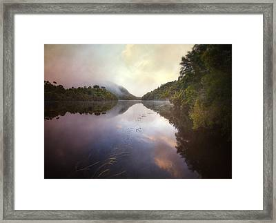 Framed Print featuring the photograph River Fire  by Amy Weiss