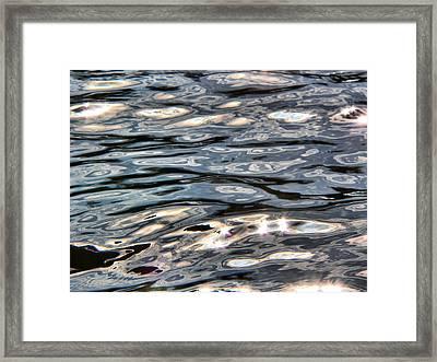River Flow Reflections Framed Print