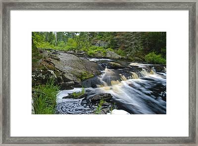 River Flow V Framed Print by Sean Holmquist