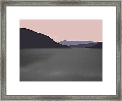 River Fog Framed Print by Val Arie