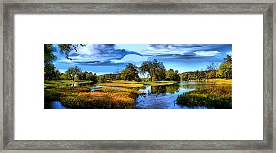 Framed Print featuring the photograph River Fork Pano by Rick Friedle