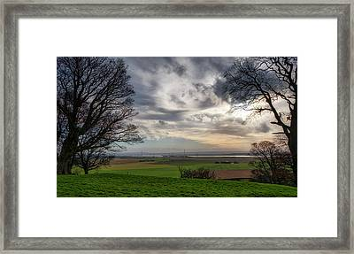 Framed Print featuring the photograph River Forth View From Clackmannan Tower by Jeremy Lavender Photography