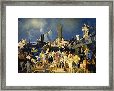 River Front Framed Print by George Bellows