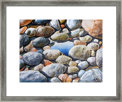 River Gems Framed Print