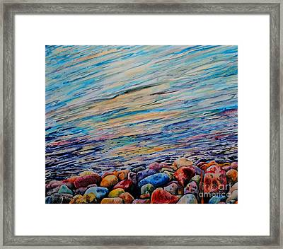 River Gems Framed Print by Tracy Rose Moyers