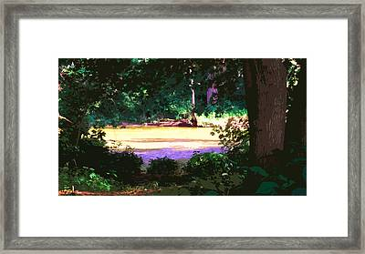 River Glen Hollow Framed Print