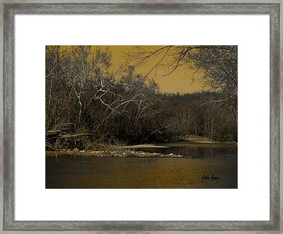River Glow Framed Print by Julie Grace