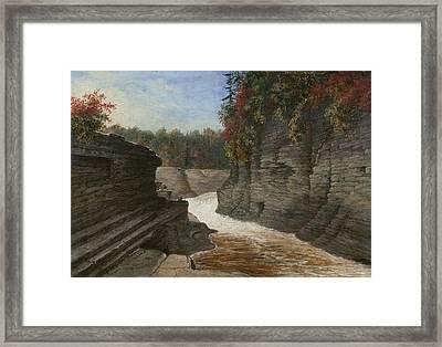 River Gorge, Autumn Framed Print
