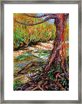 River Hafren In September Framed Print by Alexandra Cook